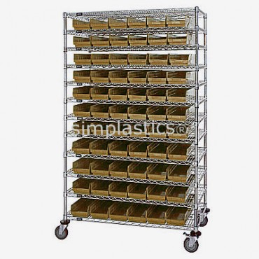 24x48x74 - 12 Shelves - 110 MSB105