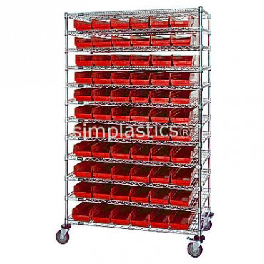 12x48x74 - 12 Shelves - 55 MSB101, 36 MSB102