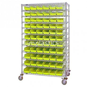 24x48x74 - 12 Shelves - 55 MSB105, 36 MSB106
