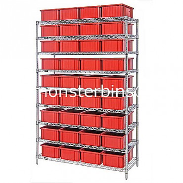 Wire Shelving Unit - 9 Shelves - 18x48x74 - 36 DG92060