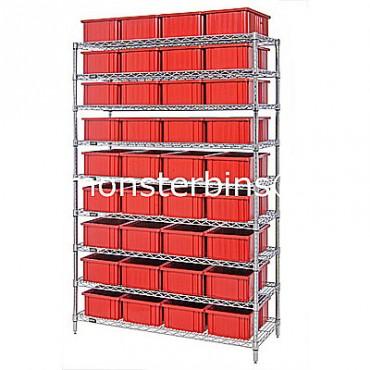 Wire Shelving Unit - 9 Shelves - 18x48x74 - 24 DG93060