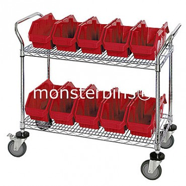 Mobile Wire Cart - 2 Shelves - 10 MQP1265