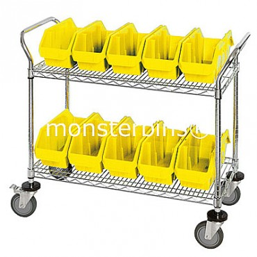 Mobile Wire Cart - 2 Shelves - 8 MQP1887