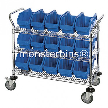Mobile Wire Cart - 3 Shelves - 12 MQP1887