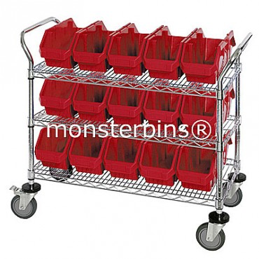 Mobile Wire Cart - 3 Shelves - 12 MQP1285