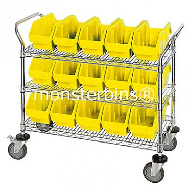 Mobile Wire Cart - 3 Shelves - 15 MQP1265