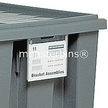 Clear Label Holder for Stack and Nest Tote (Pack of 6)